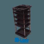 Carrito de organizacion de 6 niveles color negro