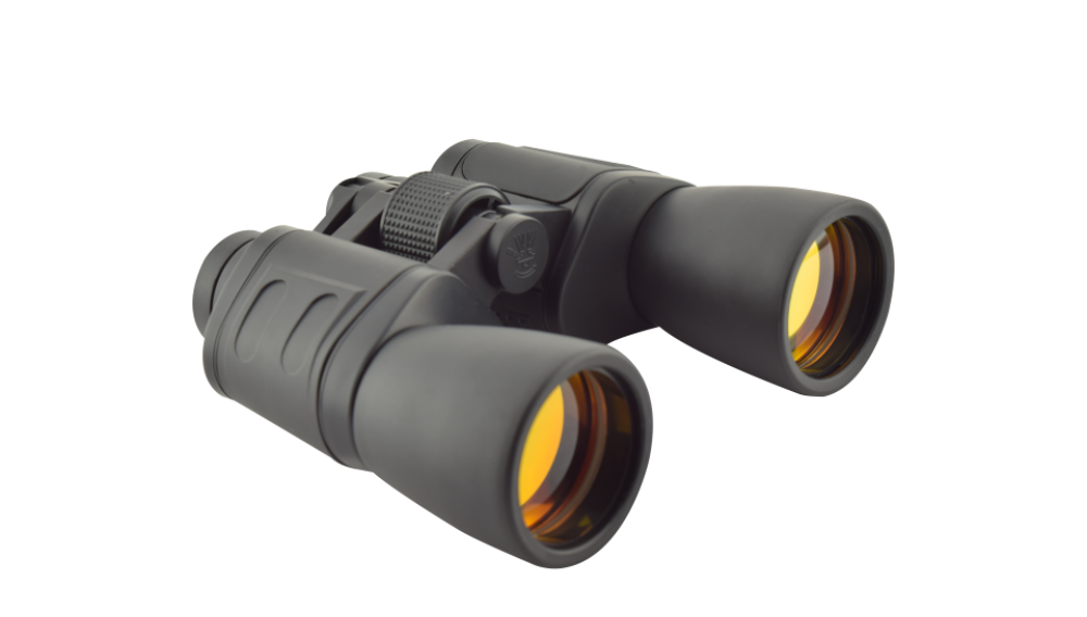 Binocular 10 X 60 Lente Rojo Ahulado Negro